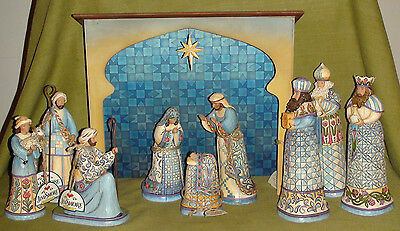 Jim Shore 10-piece Blue Nativity Scene - 1 set left