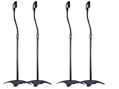 Surround Sound Speaker Stands Bose Jewel Cube Speakers - Black ( 2 PAIRS )