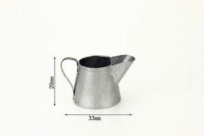 Dolls House Miniature Silver Metal Watering Can Fairy Garden Accessory 1/12