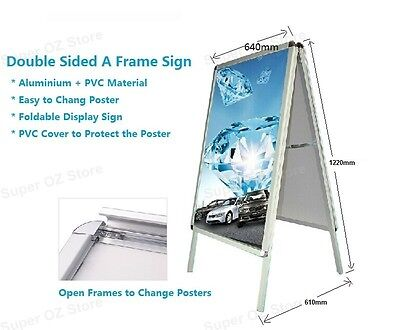 Double Sided A Frame Poster Stand A1 Size Display Snap Sign Holder Clip Side