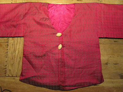 Chinese Reversible Jacket Cerise Or Cerise/grey Unisex Possibly Xl See Measure