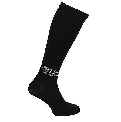 Calze Compressione Graduata Proline Nero Recupero Compression Socks New