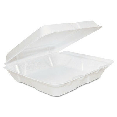 Dart Takeout Foam Clamshell Food Containers  - DCC80HT1R