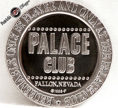 $1 Proof-Like Slot Token Palace Club Casino 1966 Fm Mint Fallon Nevada Coin New