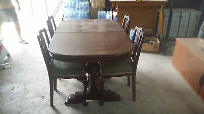 Antique Oak  Extension Dining Table With 4 Chairs