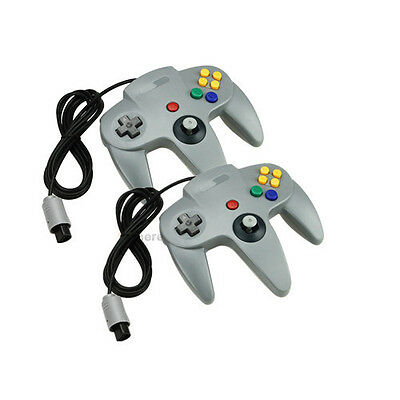 2 X Gray Long Controller Game System for Nintendo 64 N64 US Free Shipping