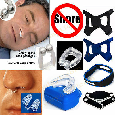 Anti Snore Stop Snoring Solution Mouth Guard Piece Nose Clip - Anti Apnea Device