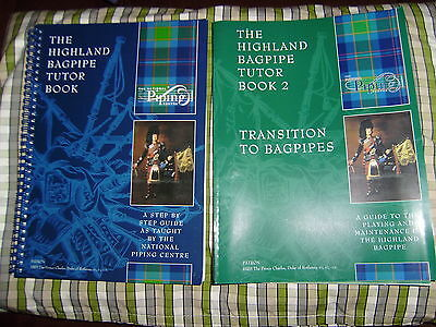 The Highland Bagpipe Tutor Books 1 and 2 by The National Piping Centre