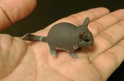 RARE Kaiyodo Choco Q Pet Animal 4 Dark Gray Chinchilla A Figure Cute!