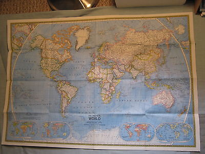 Vintage the world wall map national geographic november 1960 mint vintage the political physical world map national geographic november 1975 gumiabroncs Image collections