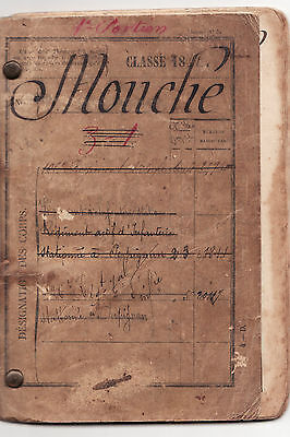 early  french military pay book  LOUIS MOUCHE  class of 1881
