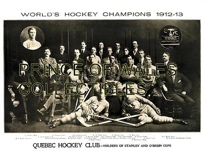 1913 Quebec Hockey Club World Champions Team Photo 8X10