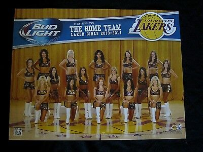 Bud Light Lakers Girl Cheerleader Poster Man Cave Bar Basketball NBA banner sign