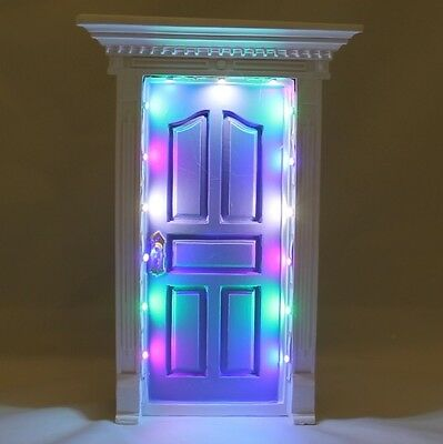 New Secret Light Up Fairy Door - Light Purple- Fv133 Kids Bedroom Tooth Faerie