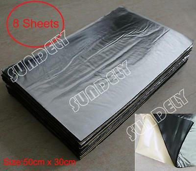 8Sheet Heat Shield Mat Car Exhaust Muffler Insulation for hood Fiberglass Cotton
