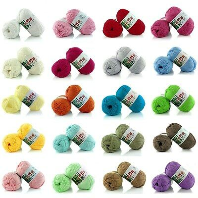 Hot 30 colors Pick Baby Soft Bamboo Crochet Cotton 50g Knitting Wool Thick Yarn