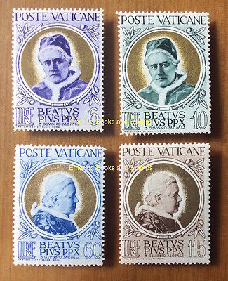 EBS Vatican City Città del Vaticano 1951 Beatification Pius X 145-148 MH*
