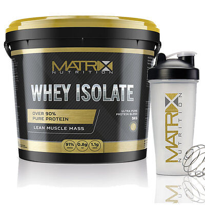 Matrix Nutrition Whey Protein Isolate - All Sizes - All Flavours - Low Fat/carbs