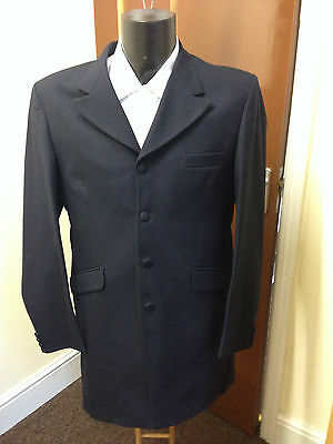 Mens Navy Blue Prince Edward Jacket / Morning Coat, 100% Pure Wool, Wedding Etc