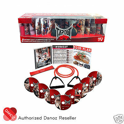 Danoz TapouT XT 8 DVD Fitness Program + Guides + 1Y WARRANTY✓ AUTHENTIC✓