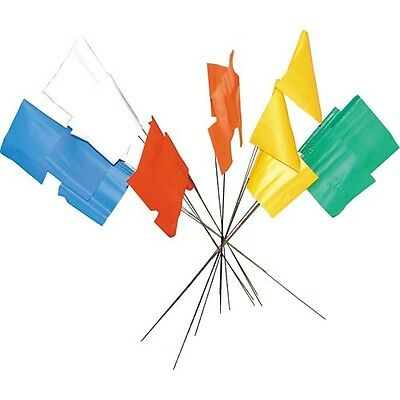Yellow Flag Markers / Survey Flags, Bundle of 100