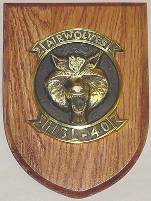 Emblem Airwolves HSL-40 Helicopter Anti-Submarine Squadron Light 40 .......E1216