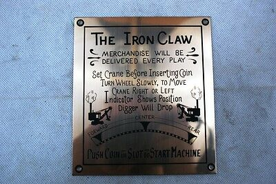 Antique Crane And Digger Machine Iron Claw Marquee Brass Plated