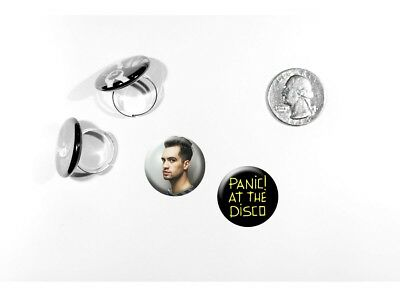 Panic! At The Disco Death of a Bachelor Brendon Urie Set of 2 adjustable rings