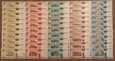 Lot Of 50 Banknotes. 10 X 20, 50, 100, 500, 1000 Rubles.