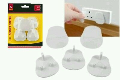 5 Pack Plug Socket Covers Baby Child Protection Home Safety