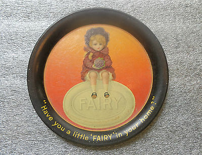 old tin litho advertising tip tray Fairy Soap mint