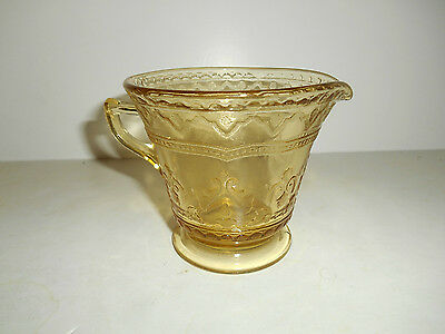 Nice Amber Patrician Spoke Footed Creamer by Federal Glass
