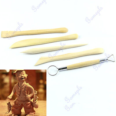 5 Pottery Wax POLYMER CLAY CARVING CARVERS SCULPTING TOOLS Wood