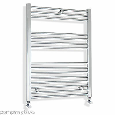 600mm Wide 800mm High Straight Chrome Heated Towel Rail Radiator Electric option
