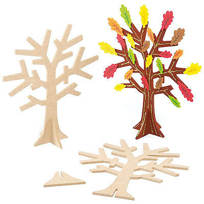 Wooden Jewellery Tree Stand, for Kids to Paint & Decorate  as Gifts (Pack of 2)