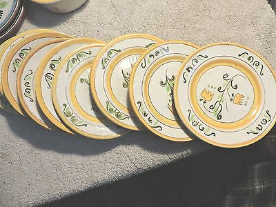 """Vintage Stangl Tulip yellow   6"""" Bread Plate    10 plate in all"""