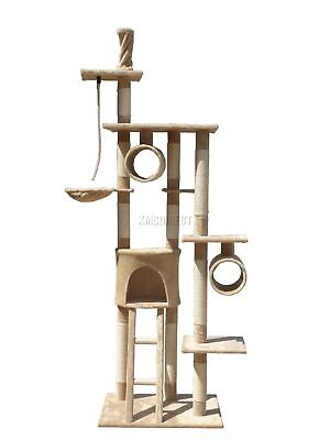 FoxHunter Cat Tree Scratching Post Activity Centre Bed Toys Scratcher D006 Beige