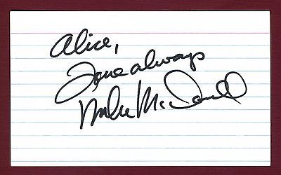 Michael McDonald Singer 'Doobie Brothers' Band Signed 3x5 Index Card C9153