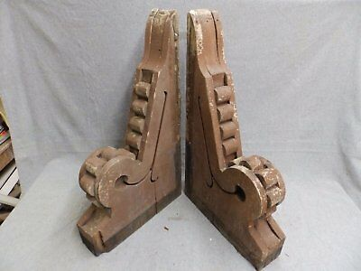 Antique Pair Wood Corbels Bracket Decorative Old Victorian Vtg Gingerbread 25-16