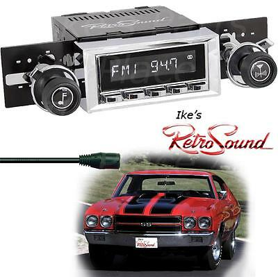 RetroSound 71-72 Chevy Chevelle LAGUNA-C Radio/3.5mm AUX-In for ipod/Push Button