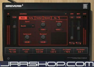 Overloud Breverb 2 Digital Reverb Suite eDelivery JRR Shop