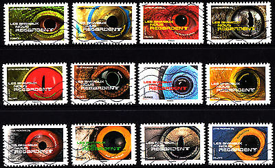 France 2015 Animal Eyes Complete Set of Stamps P Used S/A