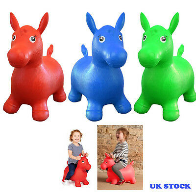 Kids Animal Space Hopper Inflatable Horse Ride-On Bouncy Play Toys Happy Soft Uk