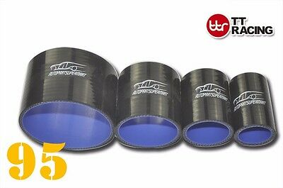 """4PLY Silicone Straight Coupler Hose Coupling ID = 95mm 3.75"""" 3-3/4"""" Black"""