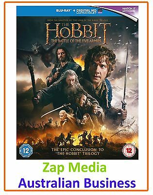 The Hobbit: The Battle of the Five Armies **Blu-ray BRAND NEW & Region Free**