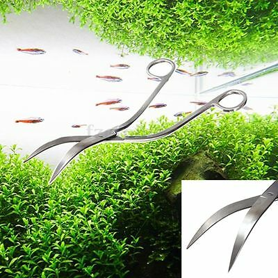 "24cm 9.5"" Professional Stainless Steel Aquarium Plant Curve Wave Scissors Shear"