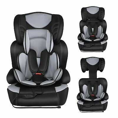 Besrey Young Sport Child/Baby/Infant/Toddler Car Seat In Black 9m - 12yrs Grey