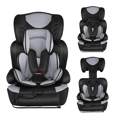 Young Sport Child/Baby/Infant/Toddler Car Seat In Black 9m - 12yrs Grey