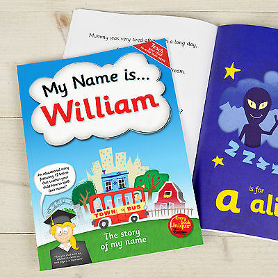 Personalised My Name Is Children's Book Softback Fun Educational Gift Idea