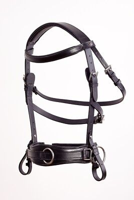 Kappzaum Royal Comfort Black Leder PONY COB FULL exklusiv by Crownclub